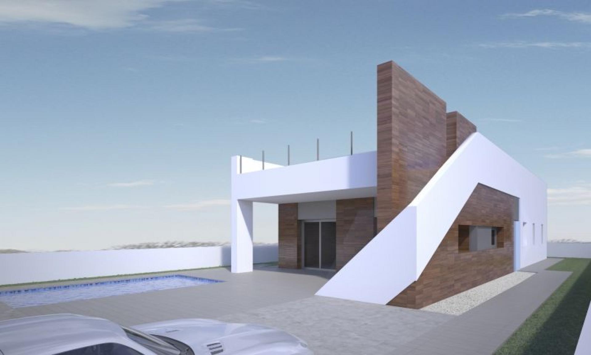 Villa moderne à distance de marche de la ville historique d'Aspe in Medvilla Spanje