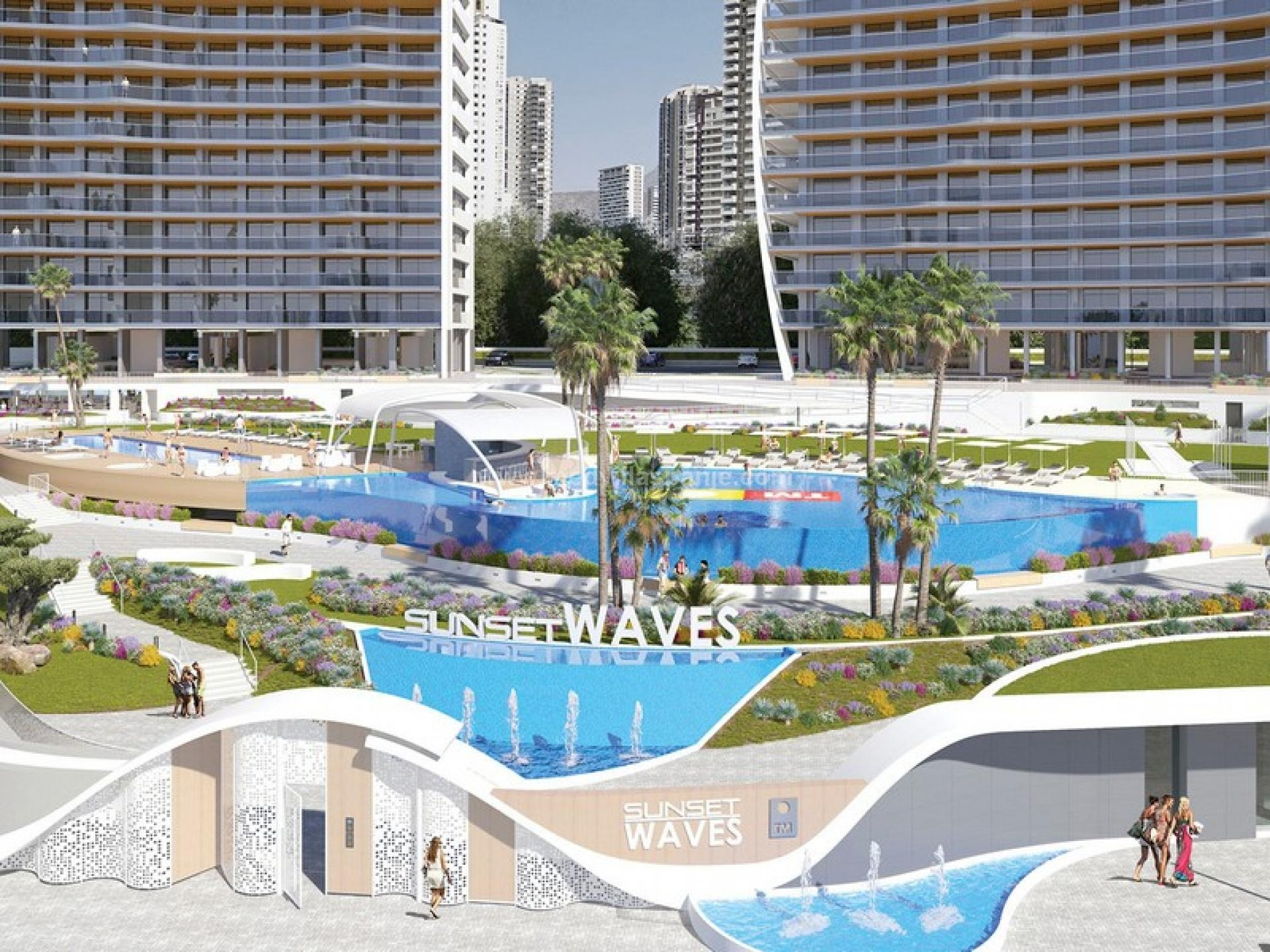 Sunset Waves - Appartement de 2 chambres à Benidorm in Medvilla Spanje