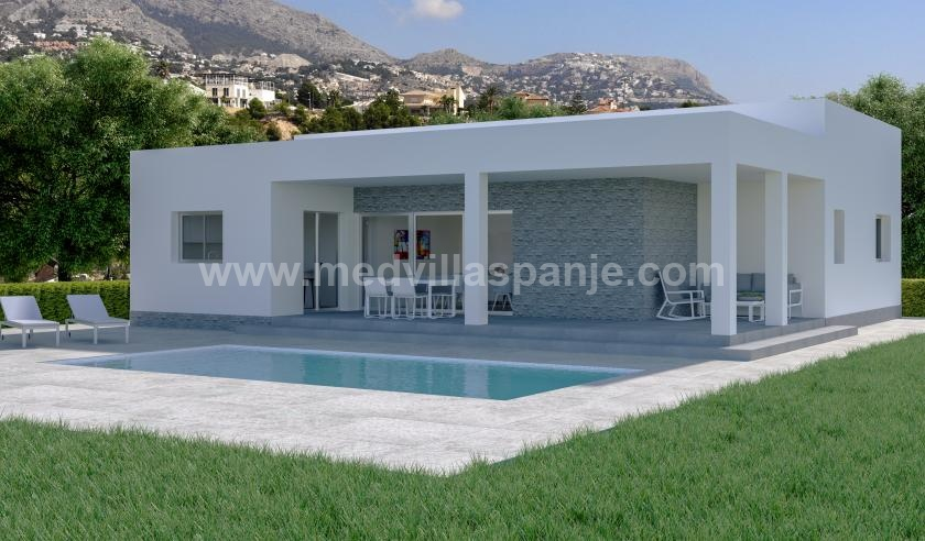 Off-plan villa á vallée de Hondon in Medvilla Spanje