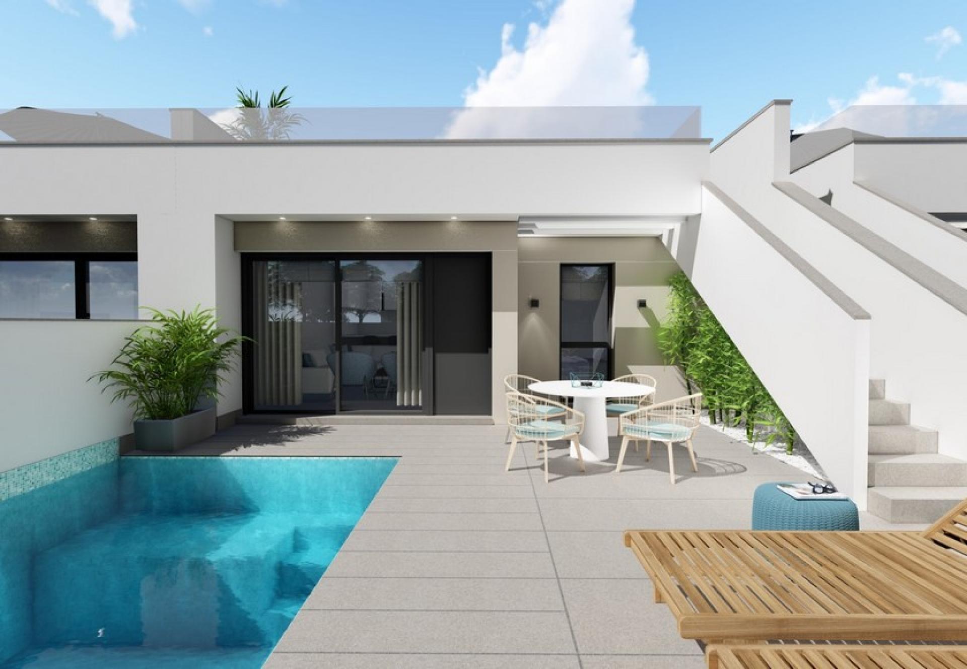 Villa de plain-pied avec solarium à vendre Pilar de la Horadada in Medvilla Spanje