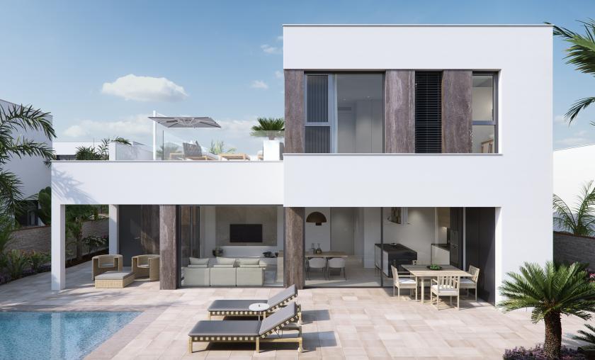 Villa de luxe près de la plage, Torre de la Horadada, Alicante, Costa Blanca Sud in Medvilla Spanje