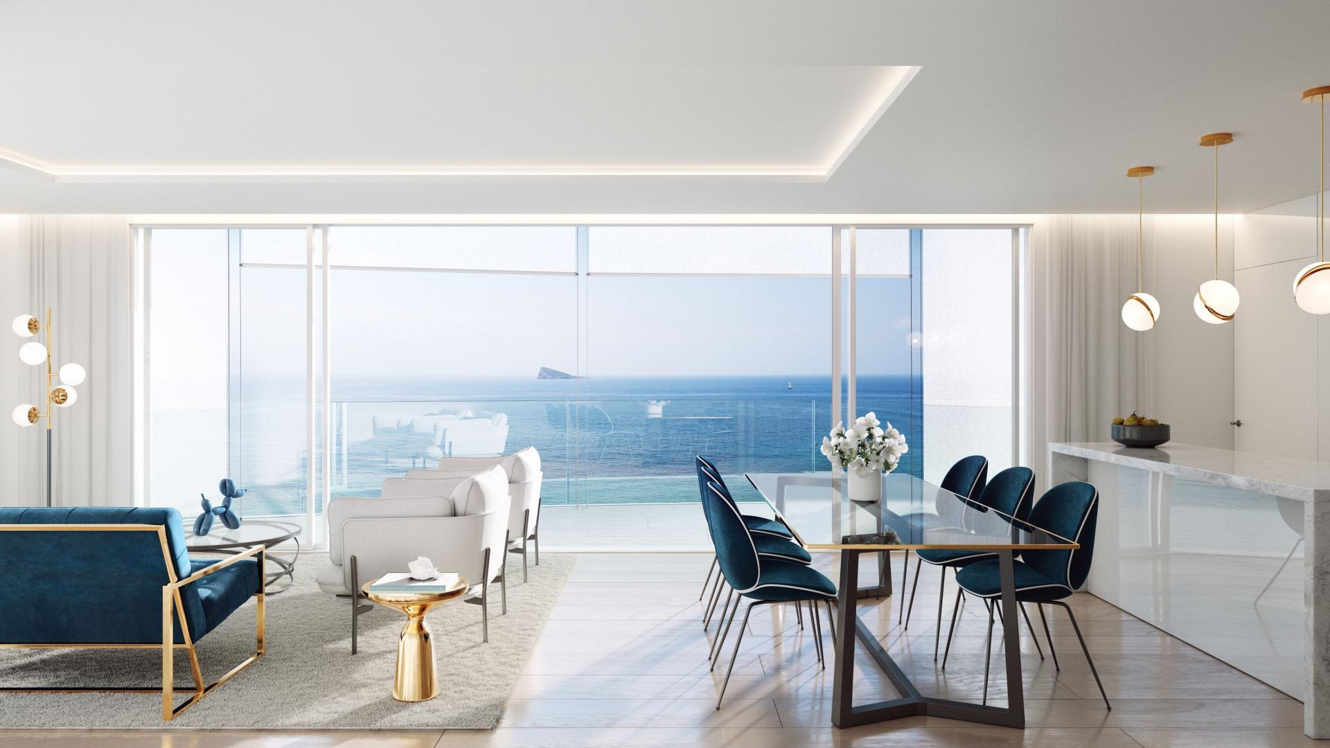 Appartement de luxe à vendre en Espagne, terrasse spacieuse 1 ° ligne plage in Medvilla Spanje
