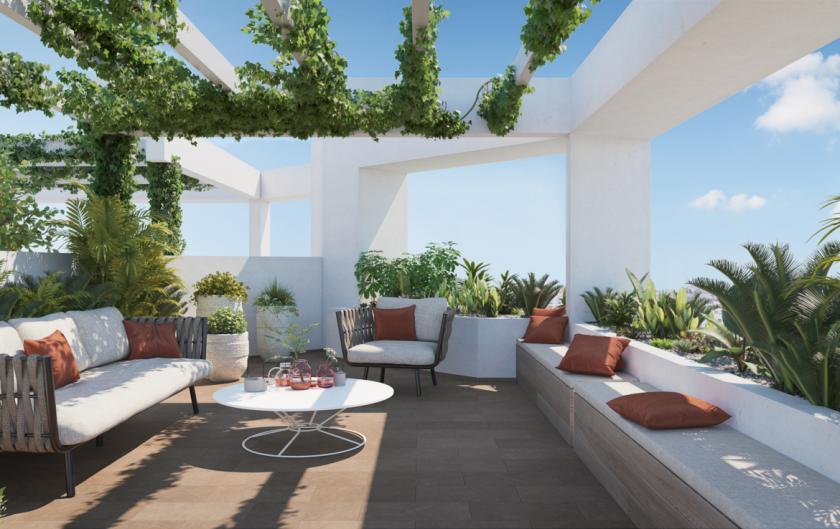 1 Chambre à coucher Appartement - terrasse à Estepona in Medvilla Spanje