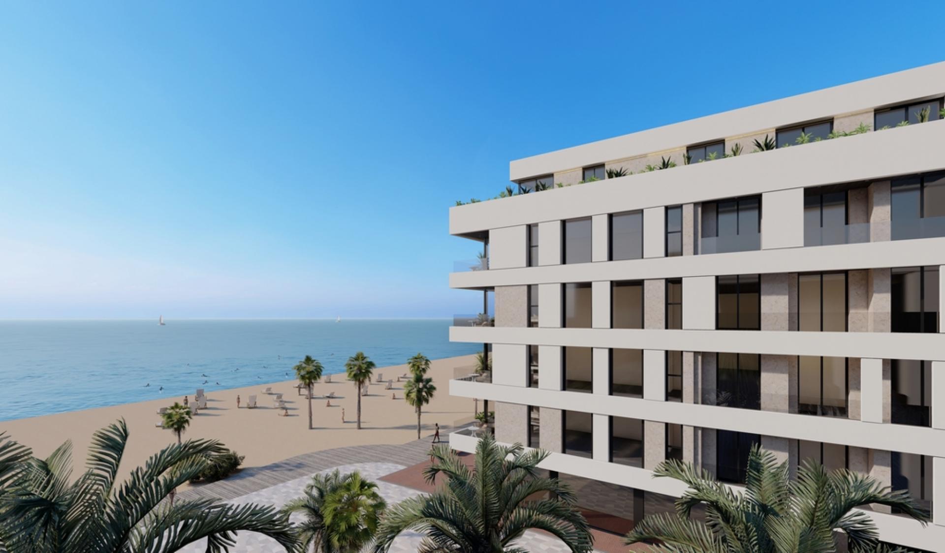 Appartements en première ligne de plage situés à La Mata, Torrevieja in Medvilla Spanje