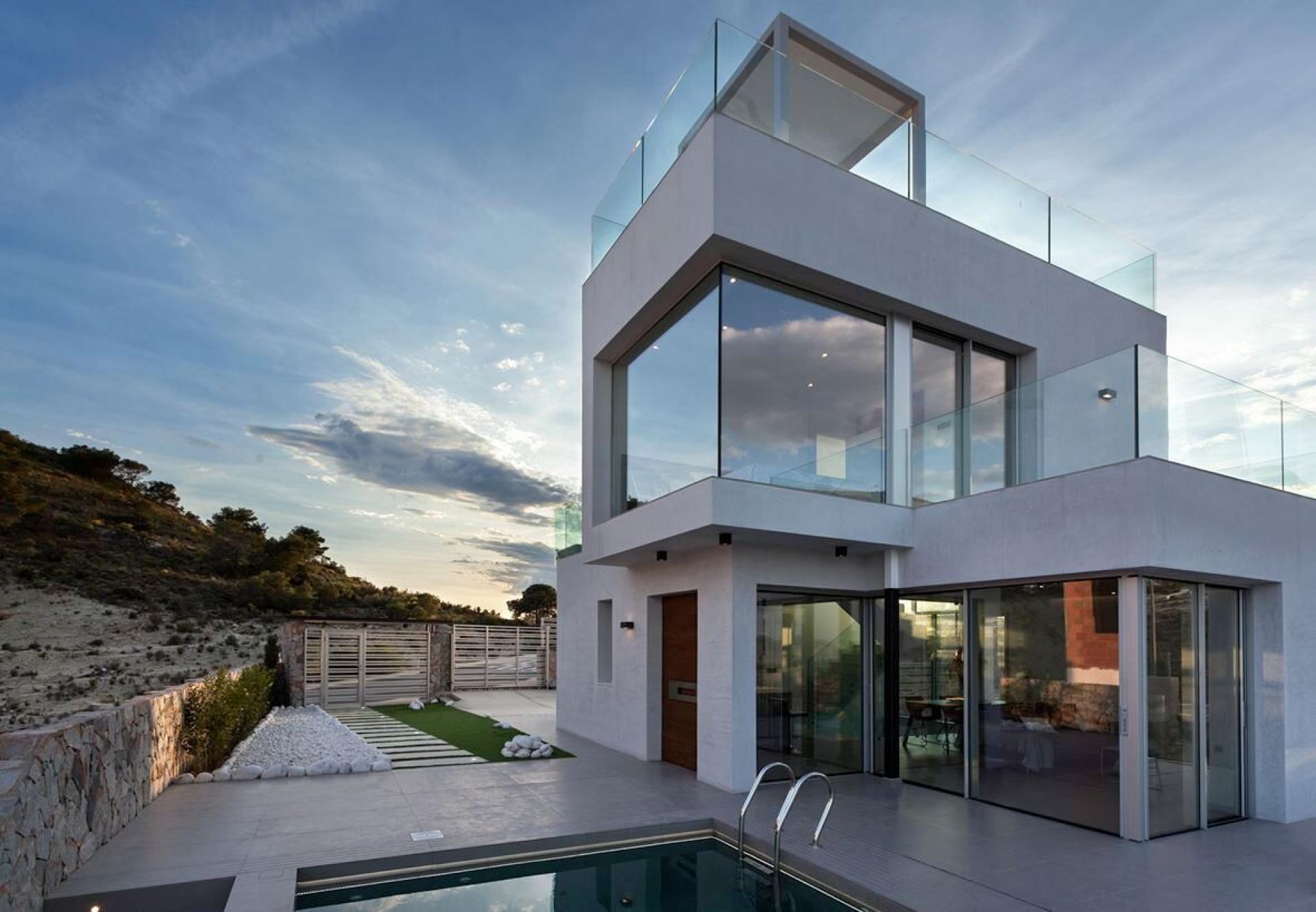 Villa de luxe avec vue mer à Balcon de Finestrat - Benidorm in Medvilla Spanje