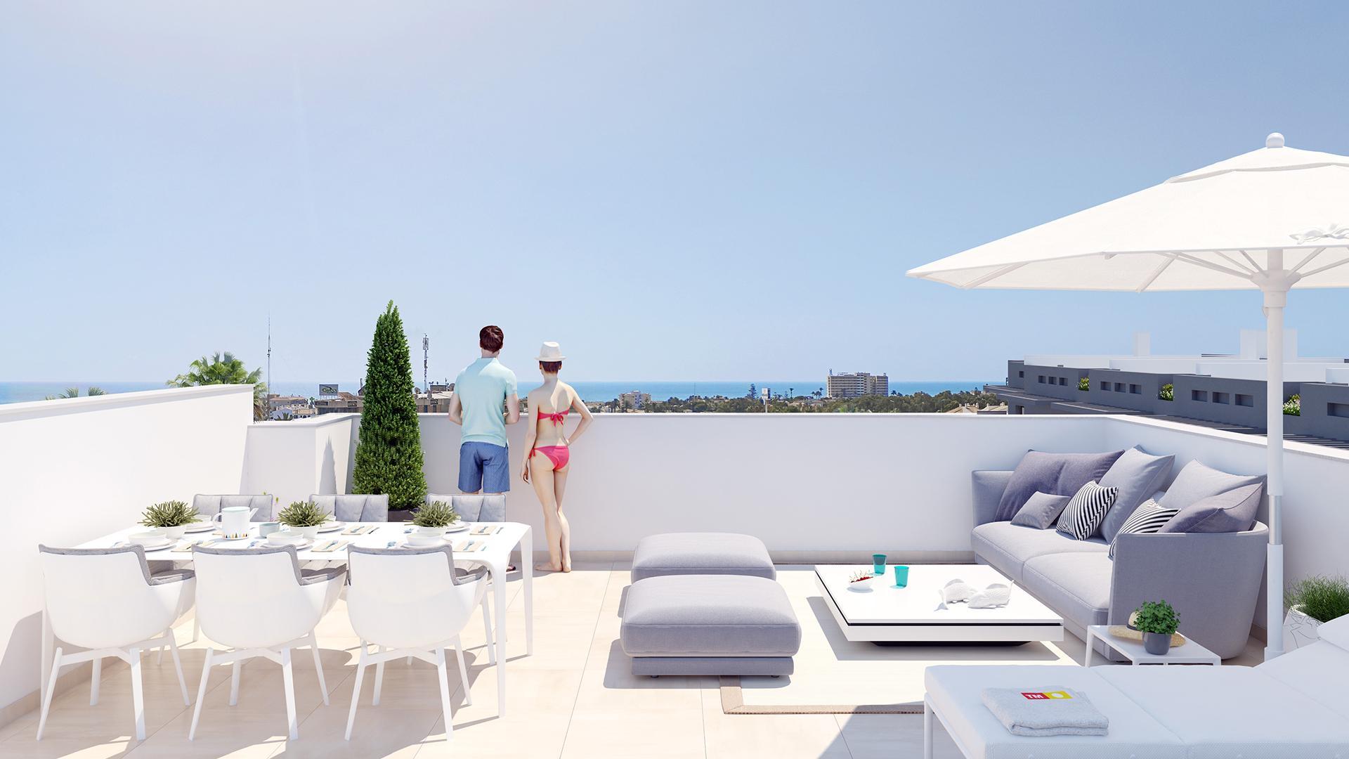 Appartements à 500m de la plage à Playa Flamenca, Orihuela in Medvilla Spanje
