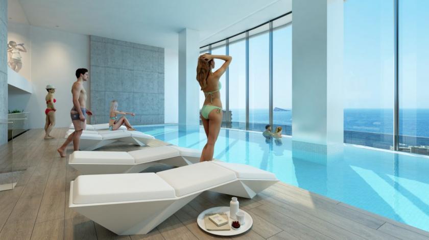 Benidorm - Appartements avec belle vue mer in Medvilla Spanje