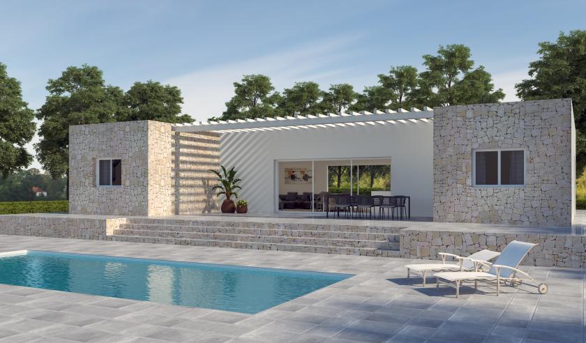 Off-plan villa á Hondon de las Nieves in Medvilla Spanje