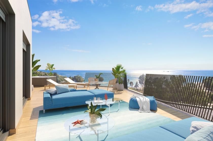Penthouse avec vue sur la mer à Villajoyosa, Costa Blanca Nord in Medvilla Spanje